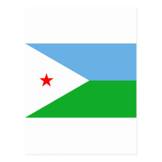 Djibouti Flag DJ Postcard