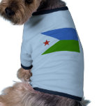 Djibouti Flag Doggie T-shirt