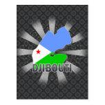 Djibouti Flag Map 2.0