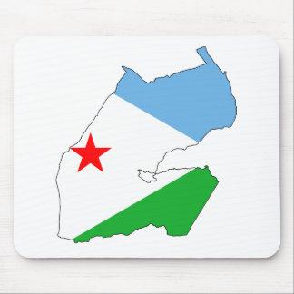 Djibouti Flag map DJ Mouse Mat
