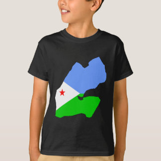 Djibouti flag map T-Shirt