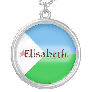 Djibouti Flag + Name Necklace