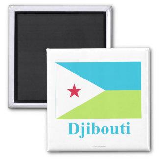 Djibouti Flag with Name Magnet