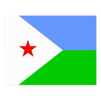 Djibouti High quality Flag Postcard