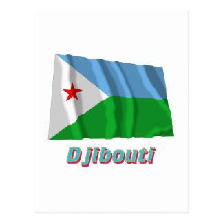 Djibouti Waving Flag with Name Postcard