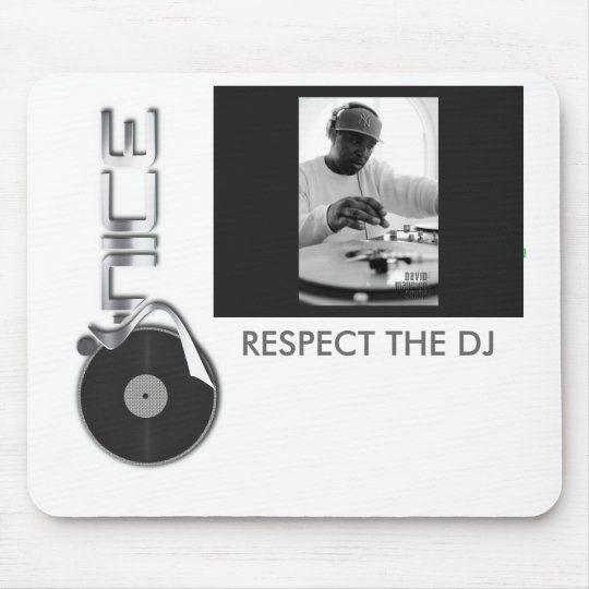djjnice-logo-fullcolor, DJ J-Nice 124, RESPECT ... Mouse Pad
