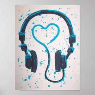 Headphones Posters | Zazzle.co.uk