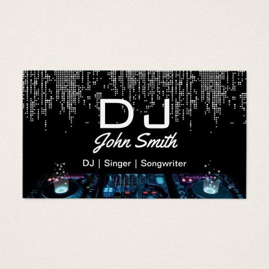 DJs Singer Songwriter Modern Music Event Business Card