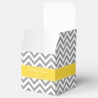 Dk Gray White LG Chevron Pineapple Name Monogram Favour Box