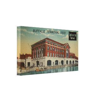 DL+W Railroad Buffalo Terminal 1920 Canvas Print