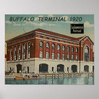 DL+W Railroad Buffalo Terminal 1920 Poster