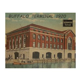 DL+W Railroad Buffalo Terminal 1920 Wood Wall Decor