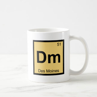 Dm - Des Moines Iowa Chemistry Periodic Table Coffee Mugs