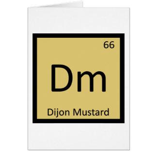 Dm - Dijon Mustard Chemistry Periodic Table Symbol Card
