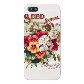 DM Ferry Flower Seeds Vintage Advertisement iPhone 5/5S Cover