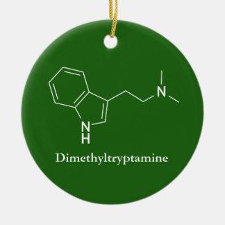 DMT Dimethyltryptamine Molecule Chemistry Christmas Ornament