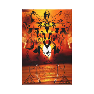 DMT SPIRITUAL GRAFFITI CANVAS-ILLUMINATION CANVAS PRINT