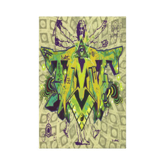 DMT SPIRITUAL GRAFFITI CANVAS-KNOWLEDGE CANVAS PRINT