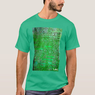 DMT SPIRITUAL GRAFFITI - THOTH THE EMERALD TABLET T-Shirt