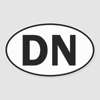 DN Oval Identity Sign Sticker