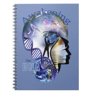 DNA Awakening design Spiral Notebook