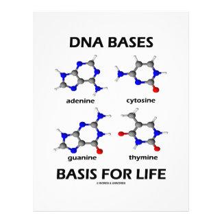 DNA Bases Basis For Life (Chemistry Molecules) 21.5 Cm X 28 Cm Flyer