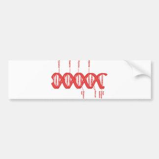 DNA BUMPER STICKER
