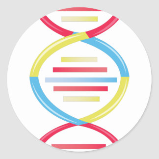 DNA Chain Classic Round Sticker
