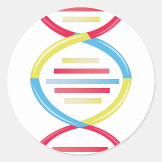 DNA Chain Round Sticker