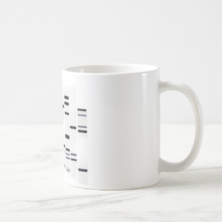DNA Code Art Black on White Coffee Mug