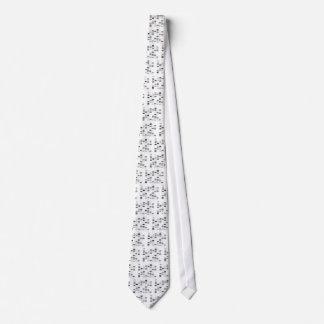 DNA Code Art Black on White Tie