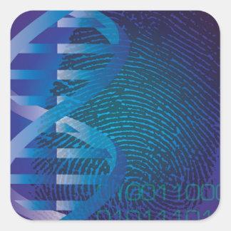 DNA Fingerprint Square Sticker