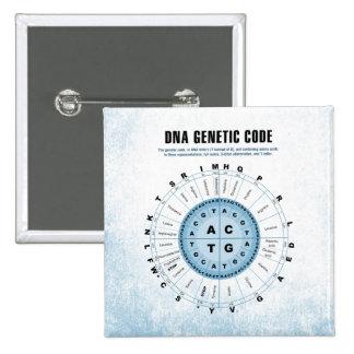 DNA Genetic Code Chart 15 Cm Square Badge