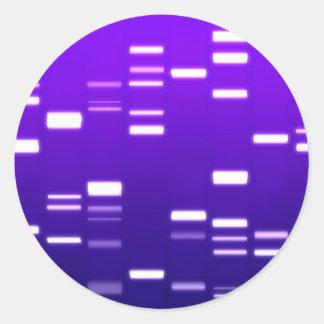 DNA Genetic Code Purple Classic Round Sticker