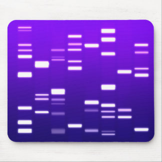 DNA Genetic Code Purple Mouse Mat