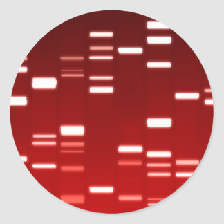 DNA Genetic Code Red Classic Round Sticker