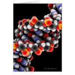 DNA molecule. Molecular model of DNA Greeting Card