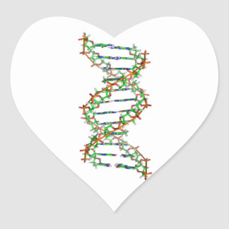 DNA - science/scientist/biology Heart Sticker