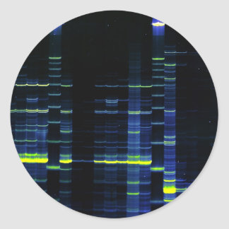 DNA Sequence gel 1 Classic Round Sticker