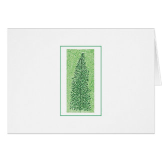 DNA Transcription Tree holiday catd Card
