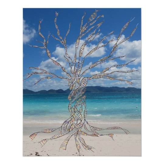 DNA TREE or Tree of Life at beach