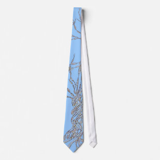 DNA TREE or Tree of Life  Blue Tie Enlarged