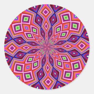DNA Twist Round Sticker