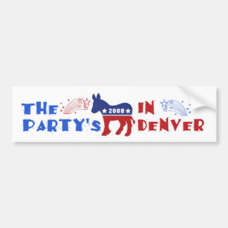DNC Convention Denver Bumper Sticker