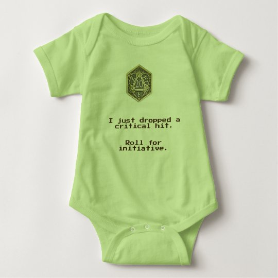 DnD Critical Hit. D20 Baby Bodysuit