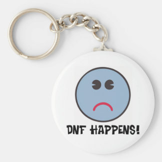 DNF Happens! Basic Round Button Key Ring
