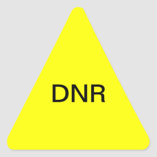 DNR Medical Chart Label Triangle Sticker