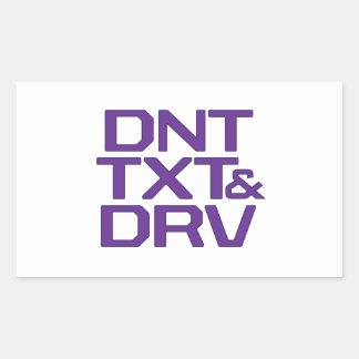 DNT TXT & DRV RECTANGULAR STICKER