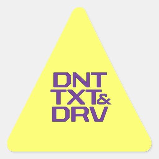 DNT TXT & DRV STICKERS