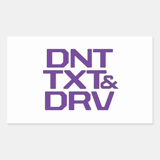 DNT TXT & DRV STICKER